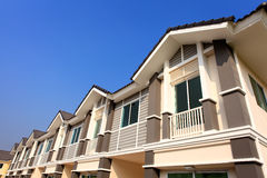 A row of new and colorful townhouses Royalty Free Stock Image