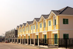 A row of new and colorful townhouses Royalty Free Stock Photos