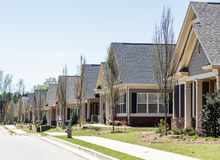 Row of New Condo Townhouses Royalty Free Stock Images