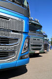 Row of New Euro 6 Volvo FH16 Trucks, Detail Royalty Free Stock Photography