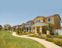 Row of  new homes in Arizona Stock Photos