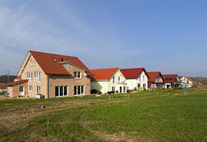Row Of New Homes For Families Royalty Free Stock Images