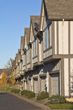 Row of new homes in Willsonville Oregon. Stock Photo