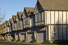 Row of new homes in Willsonville Oregon. Royalty Free Stock Image