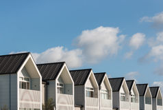Row of new houses. With copy space Royalty Free Stock Photos