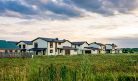 Row of new houses Royalty Free Stock Photography