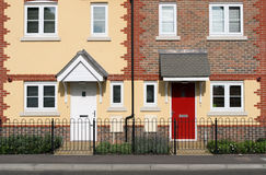 Row of New Terraced Houses Royalty Free Stock Photography
