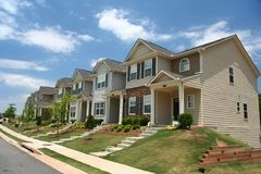 A row of new townhomes Royalty Free Stock Photography