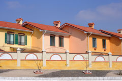 A row of new townhouses Royalty Free Stock Photos