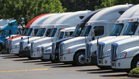 Row of new US trucks Stock Photos