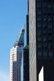 Row of New York City Skyscrapers Stock Photo