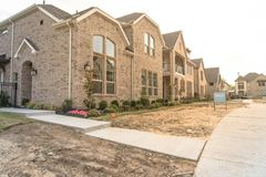 Newly built detached single-family home sold out in America Royalty Free Stock Images