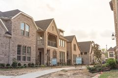 Newly built detached single-family home sold out in America Royalty Free Stock Photography