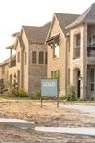 Newly built detached single-family home sold out in America Royalty Free Stock Image