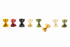 A row of noodles Royalty Free Stock Photography