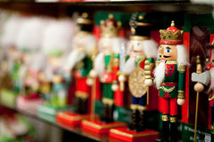Row of Nutcrackers Stock Photography