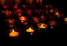 Row od Candles Stock Photography