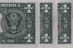 Free Row Of 1 US Dollar Banknotes Royalty Free Stock Images - 215568209