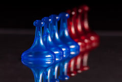 Row Of Blue And Red Pegs Stock Image