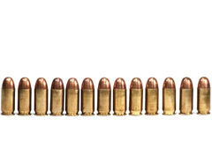 Row Of Bullets On White Background Isolated Royalty Free Stock Photos