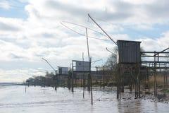Free Row Of Fishing Cabins Stock Photo - 123019720