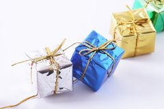 Free Row Of Gift Boxes Royalty Free Stock Image - 3597196