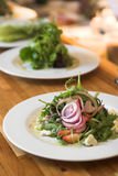 Row Of Gourmet Salads Royalty Free Stock Images