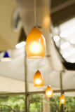 Row Of Hanging Lights Stock Images