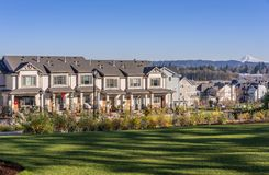 Row Of Houses In A Suburb Wilsonville Oregon Stock Photography