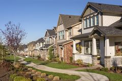 Row Of Houses In A Suburb Wilsonville Oregon Stock Photos