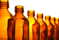 Row Of Medicine Bottle Royalty Free Stock Images