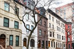 Free Row Of Old Buildings In The Upper West Side, New York City Royalty Free Stock Photo - 114018475