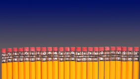 Row Of Pencils Stock Images