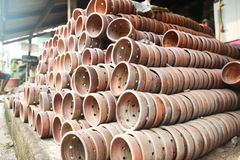 Row Of Potteries In Koh Kred Stock Photo