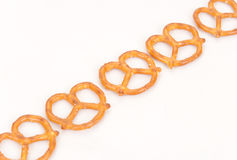 Row Of Pretzels Stock Photo