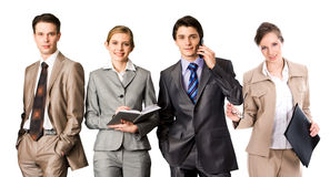 Row Of Professionals Stock Images