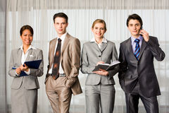 Row Of Professionals Stock Photo