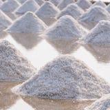 Row Of Sea Salt Stock Photos