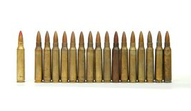 Row Of Standing Cartridges Isolated Stock Photo