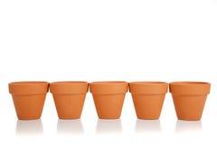 Free Row Of Terra Cotta Flower Pots Stock Photo - 10601010