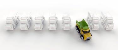 Row Of Tipper Trucks Stock Photos