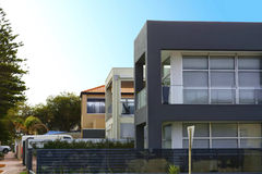 Row Of Two Story Homes. Royalty Free Stock Images