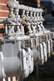 Row Of Utility Meters Stock Photos