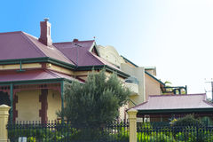 Row Of Victorian Style Homes Royalty Free Stock Images
