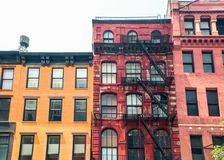 Free Row Of Vintage New York City Apartment Building Facades Stock Photos - 121524293