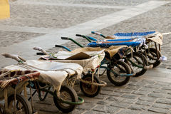 Free Row Of Wheelbarrows Stock Photo - 20770170