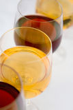 Row Of Wineglasses Royalty Free Stock Photography