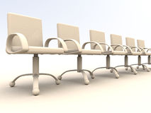 Row of office chairs Stock Photo