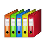 Row of office folders Stock Images
