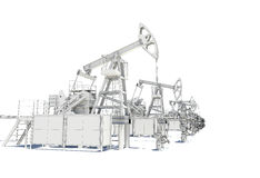 Row of Oil and Gas Pump Jacks Royalty Free Stock Image